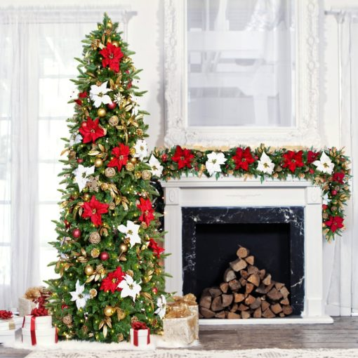 Historic Pre-Decorated + Pre-Lit Garland - 6 ft